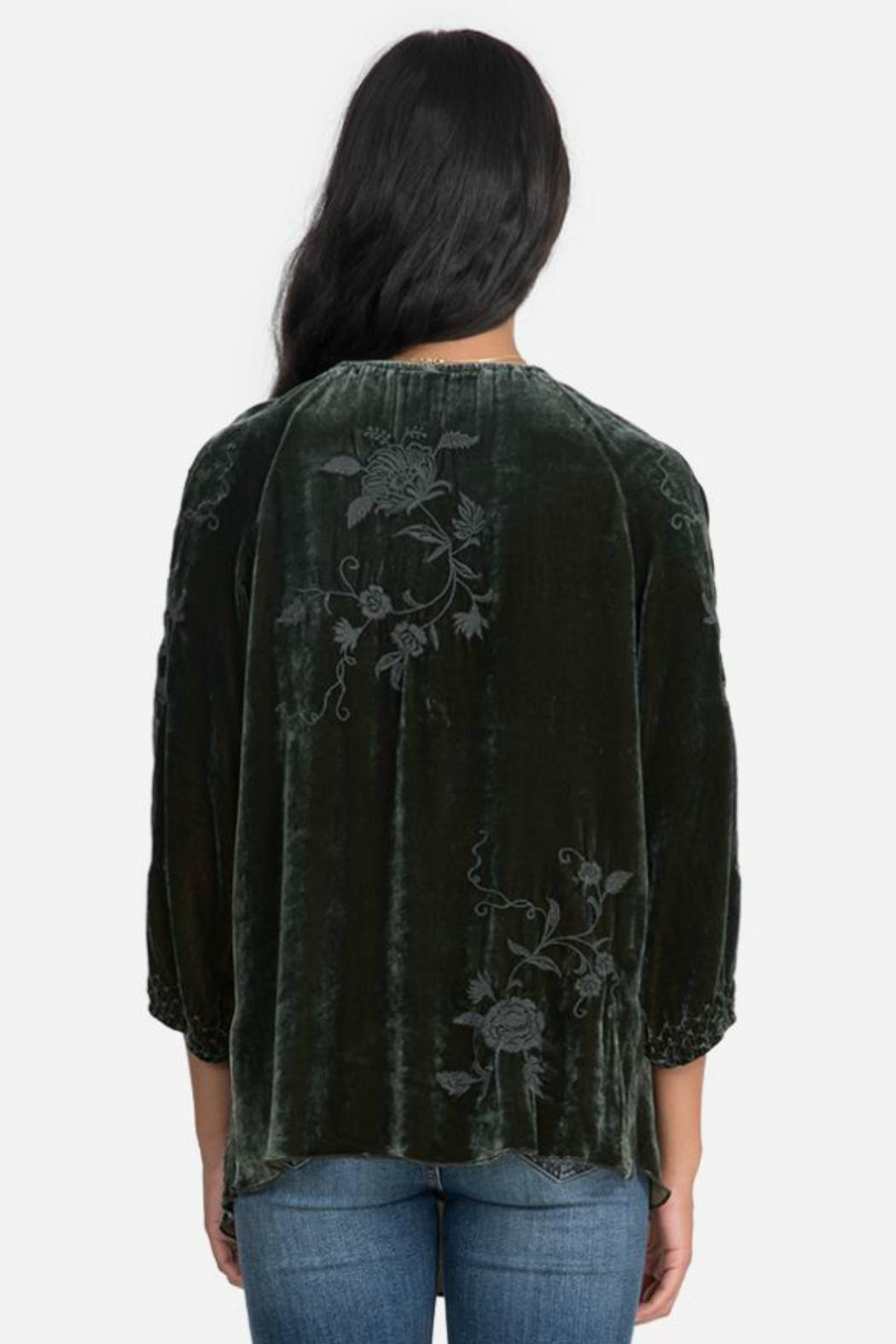 Johnny Was Velvet Peasant Top - Front Full Image
