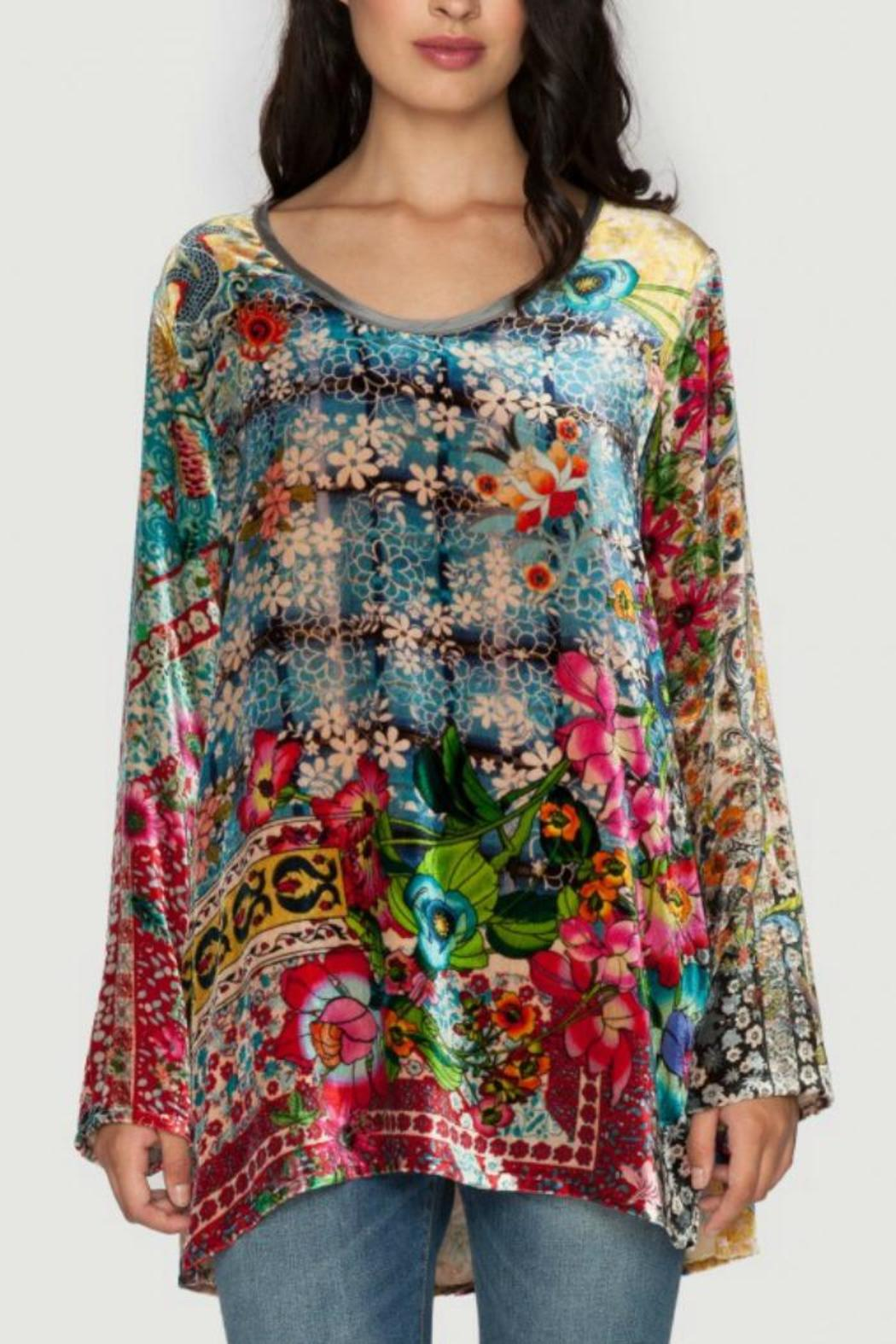 Johnny Was Velvet Scoopneck Tunic from Dallas by Hip Chic ...