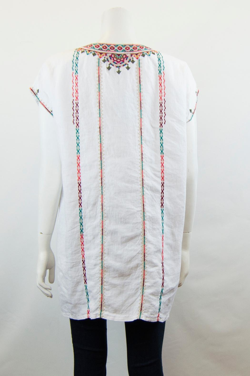 Johnny Was Verena Linen Tunic - Side Cropped Image