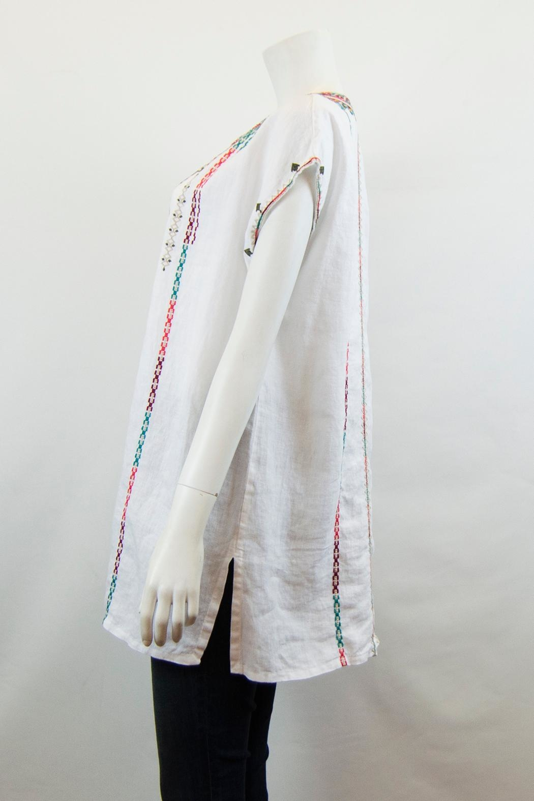 Johnny Was Verena Linen Tunic - Front Full Image