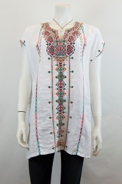 Johnny Was Verena Linen Tunic - Product List Image