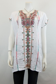 Johnny Was Verena Linen Tunic - Front cropped