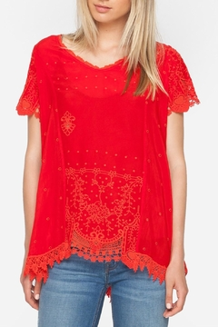 Johnny Was Red Princess Blouse - Product List Image