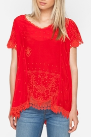 Johnny Was Red Princess Blouse - Product Mini Image