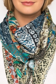 Johnny Was Voloom Silk Scarf - Side cropped