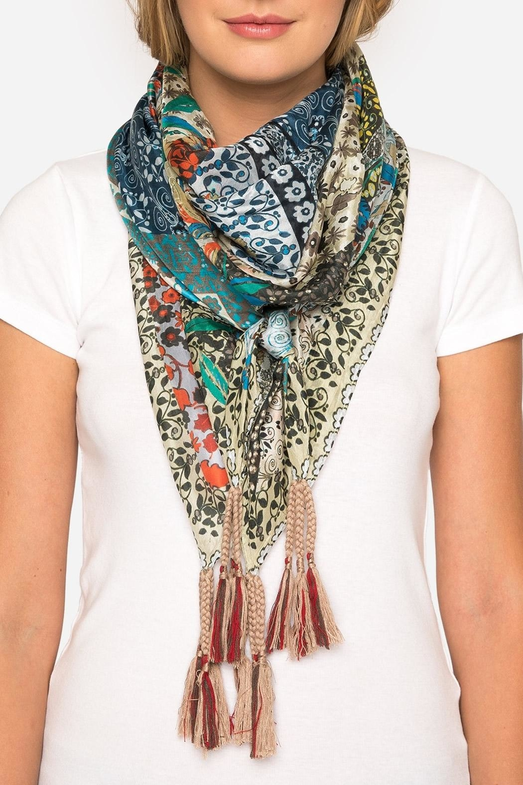 Johnny Was Voloom Silk Scarf - Front Cropped Image