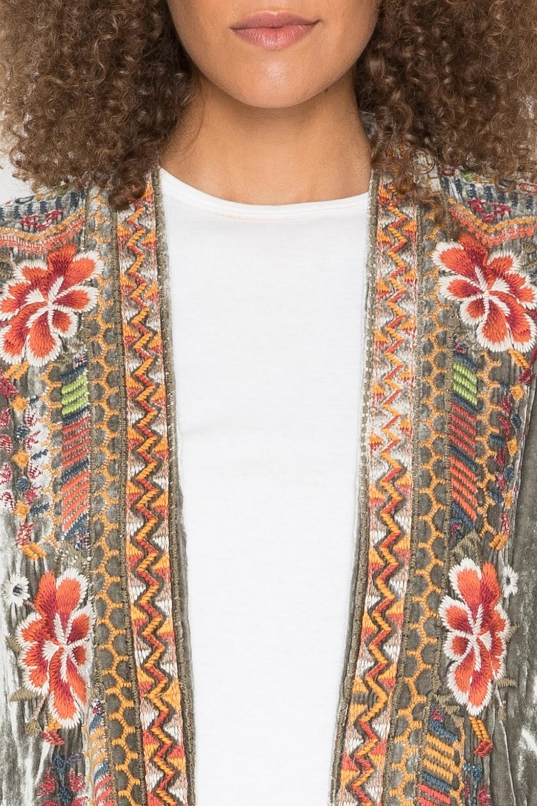 Johnny Was Waleska Velvet Cardigan - Side Cropped Image