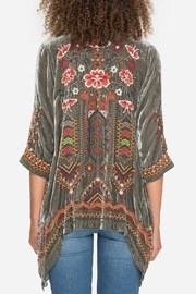 Johnny Was Waleska Velvet Cardigan - Front full body