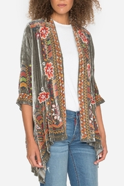 Johnny Was Waleska Velvet Cardigan - Front cropped