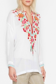 Johnny Was White Blossom Blouse - Front cropped