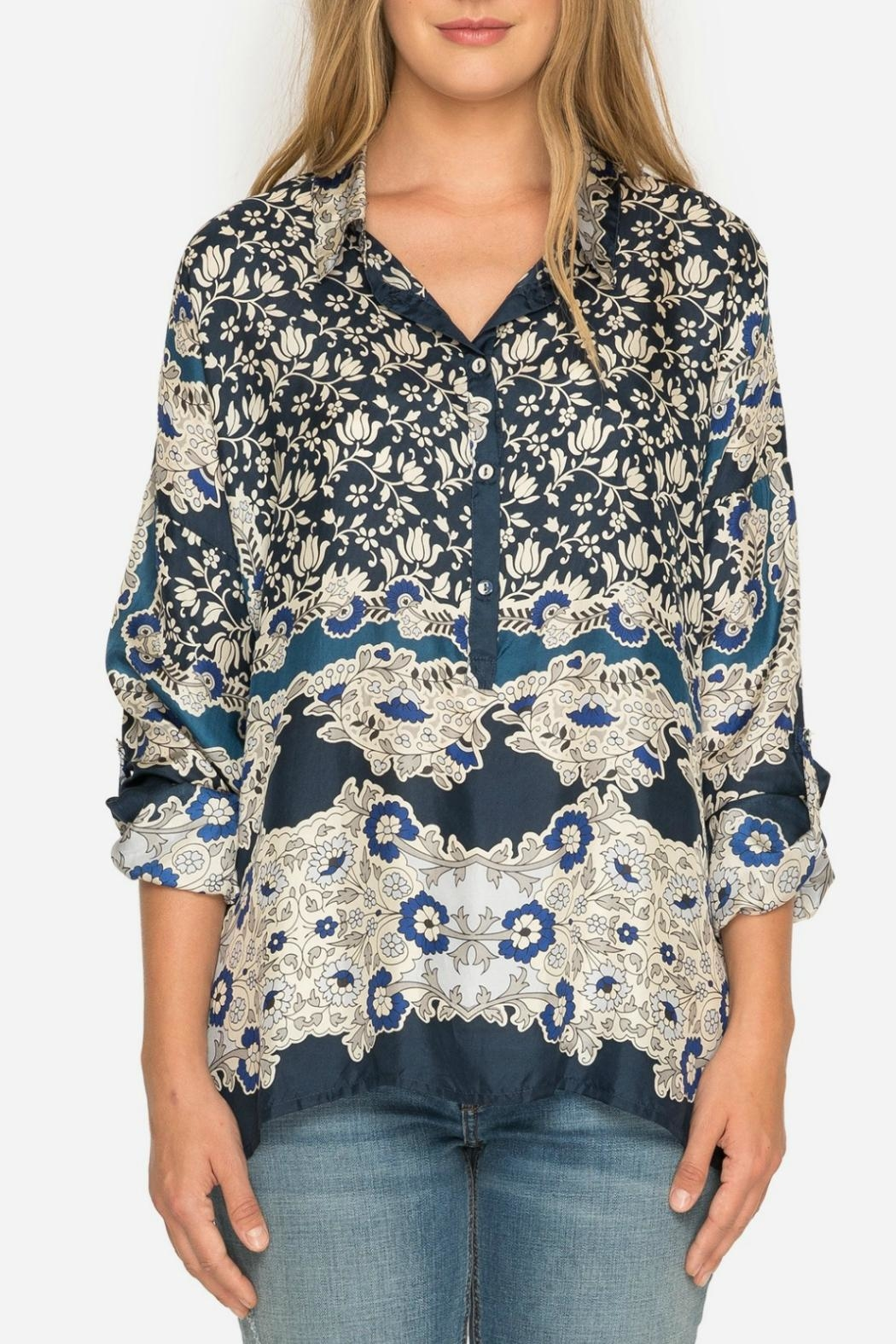 Johnny Was Wishing Print Blouse - Front Full Image