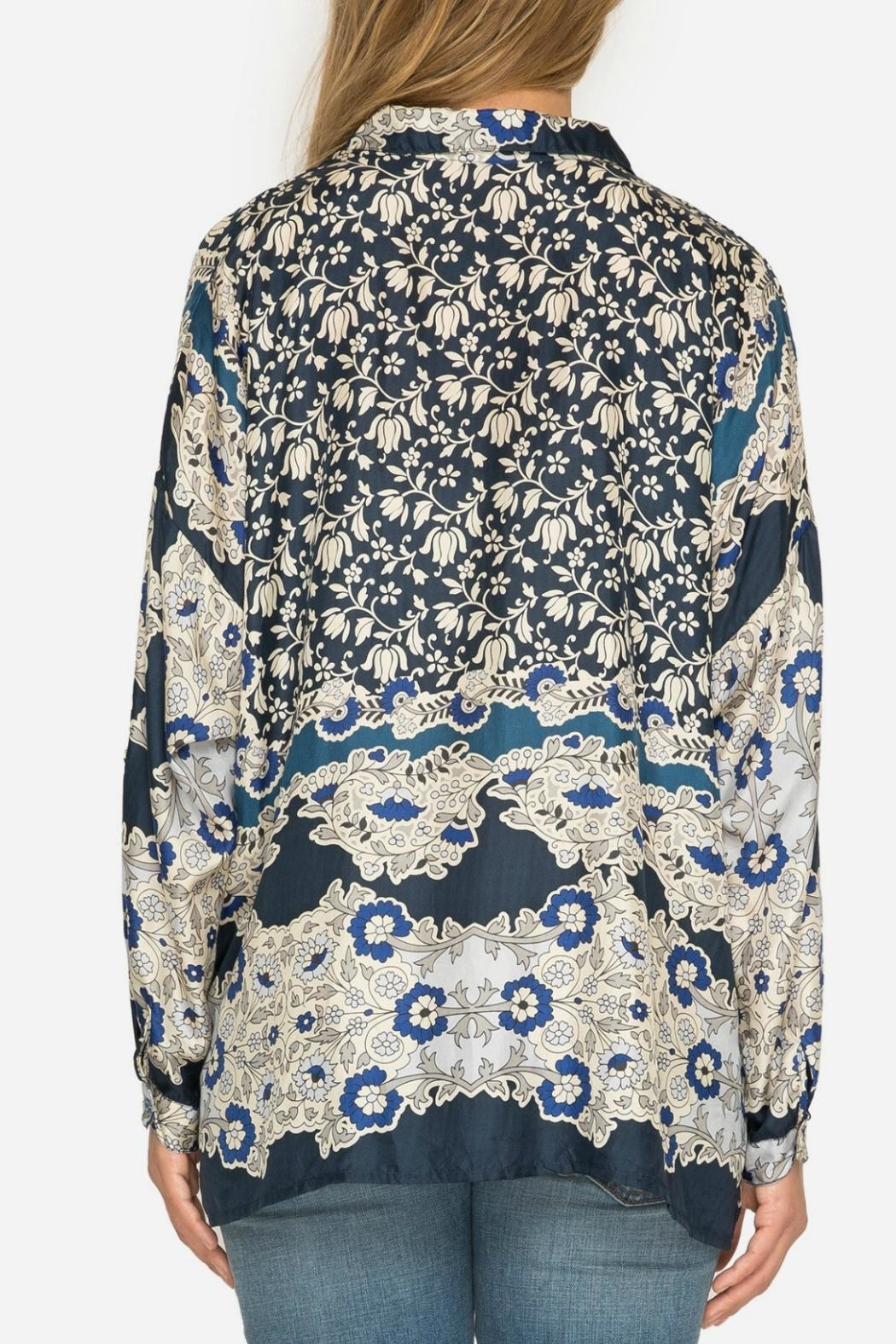 Johnny Was Wishing Print Blouse - Side Cropped Image