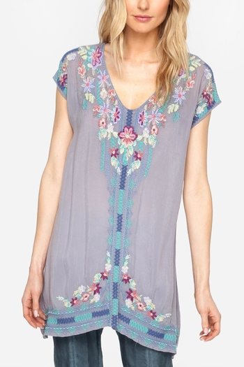 Johnny Was Yasi Embroidered Tunic - Main Image