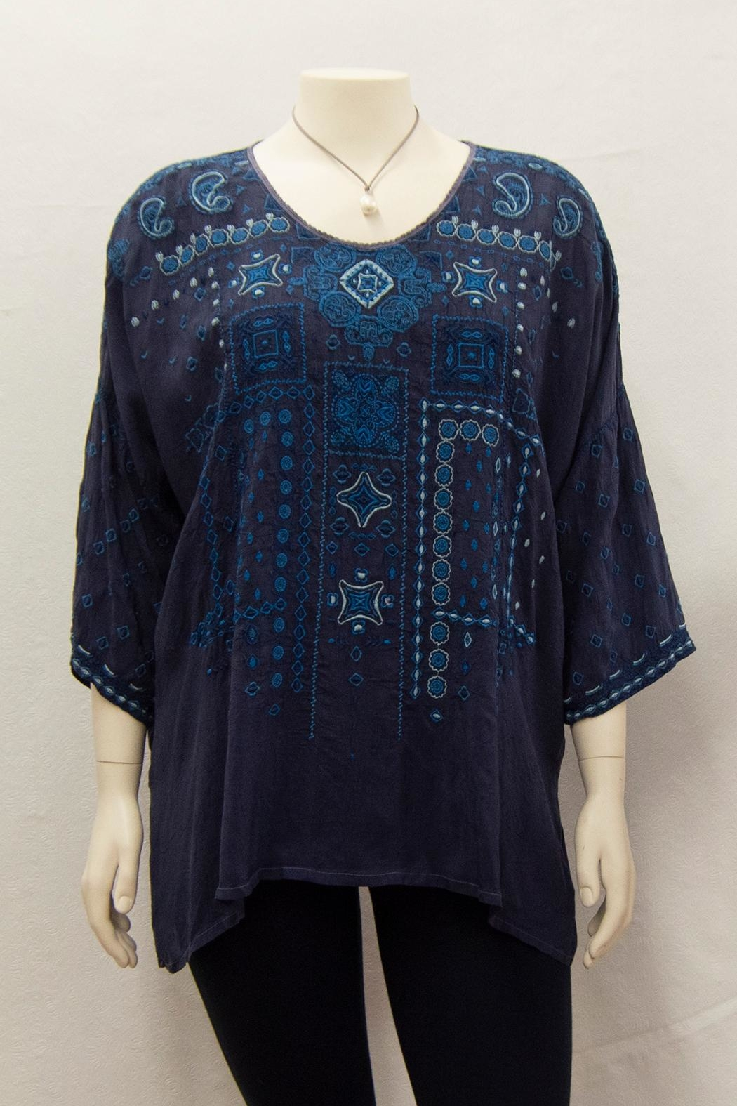 Johnny Was Collection Amaru Blouse Plus - Main Image