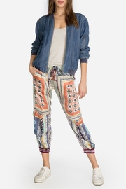 Johnny Was Collection Benia Satin Pant - Front cropped