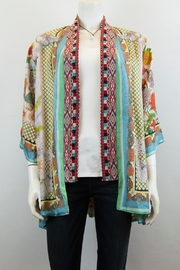 Johnny Was Collection Claret Kimono - Front cropped