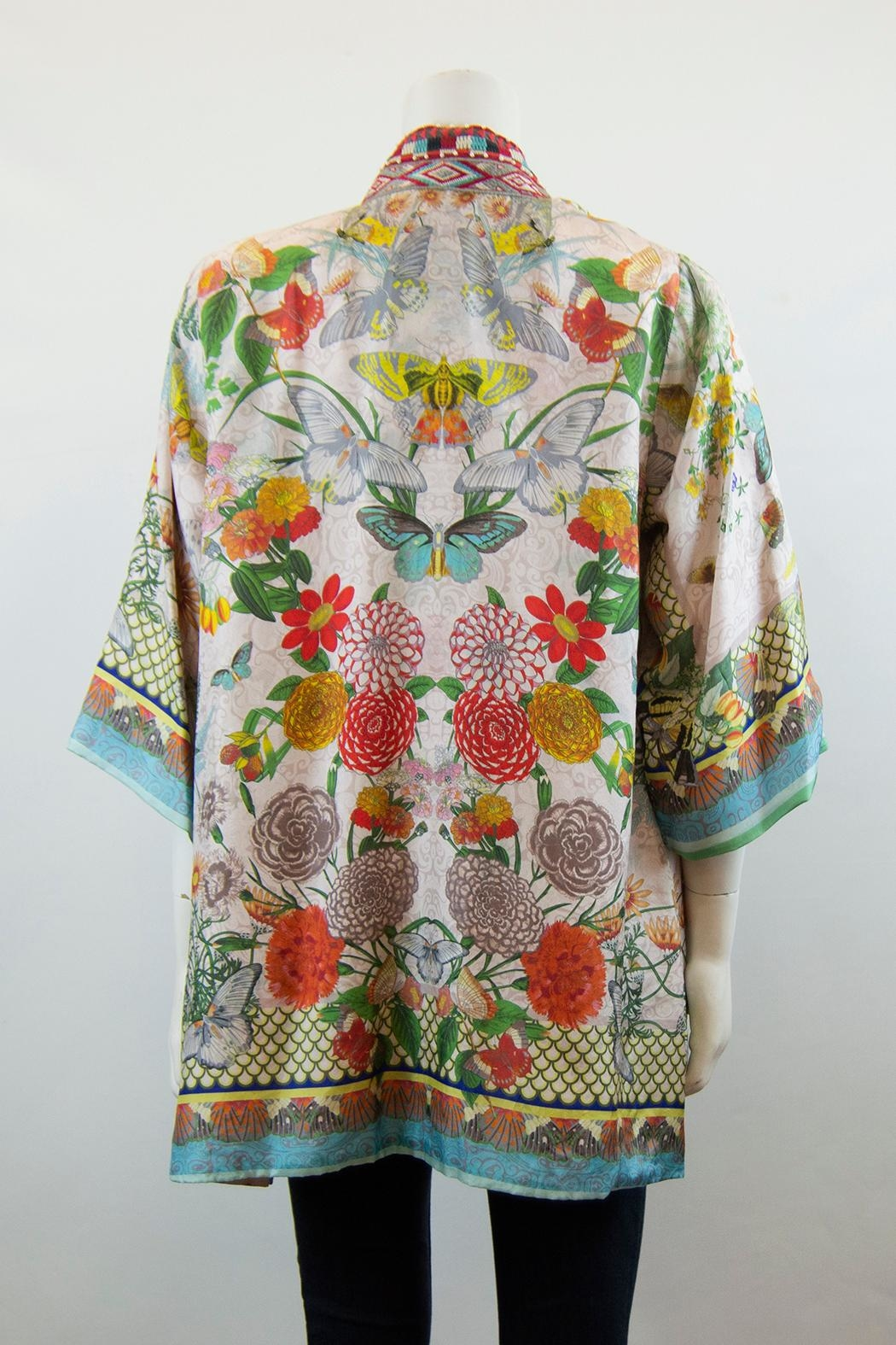 Johnny Was Collection Claret Kimono - Front Full Image