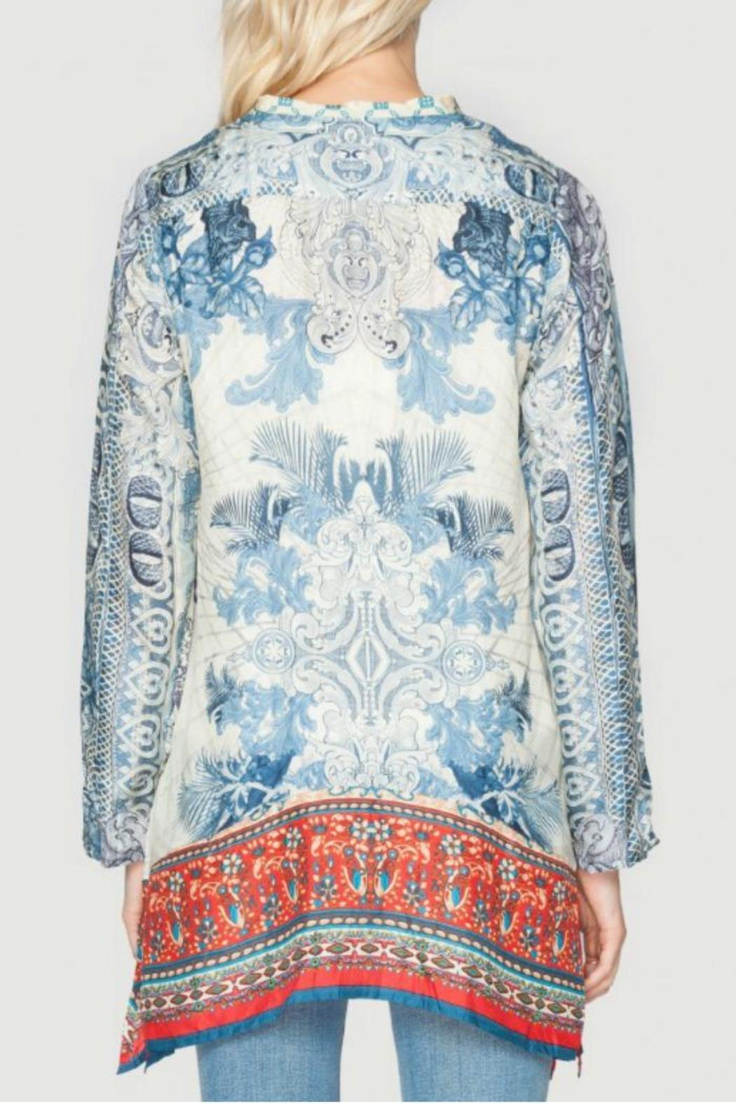Johnny was currency silk tunic from dallas by hip chic for Johnny was silk shirt