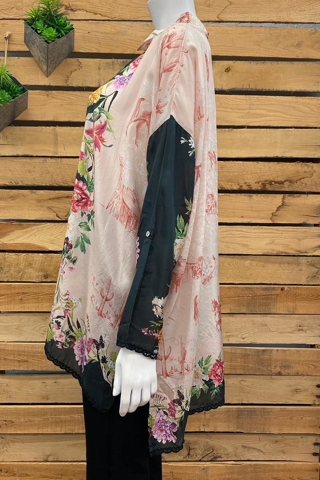Johnny Was Collection Elianna Blouse - Front Full Image