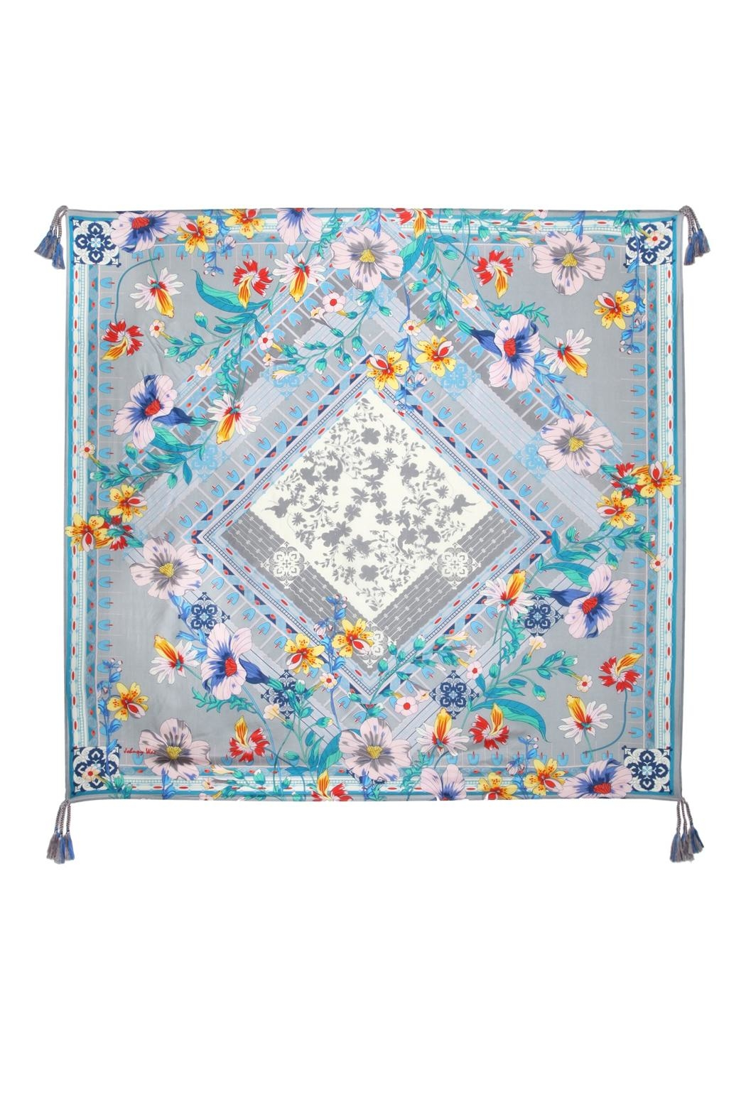 Johnny Was Collection Ellyna Silk Scarf - Front Cropped Image