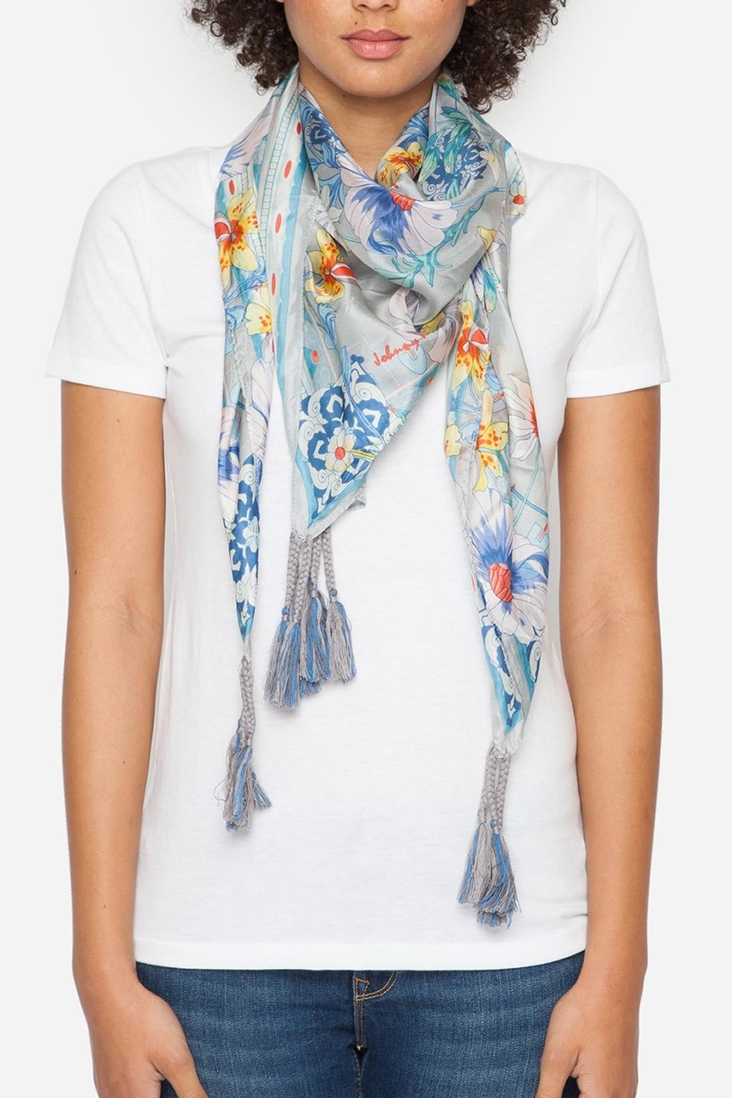 Johnny Was Collection Ellyna Silk Scarf - Front Full Image