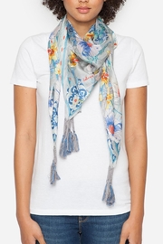 Johnny Was Collection Ellyna Silk Scarf - Front full body