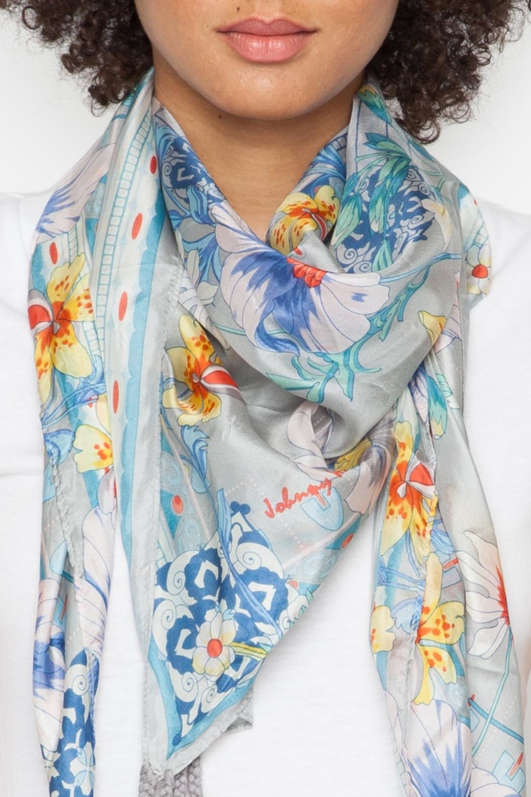 Johnny Was Collection Ellyna Silk Scarf - Main Image