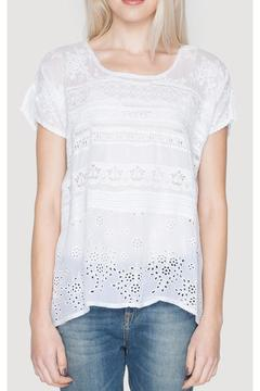Shoptiques Product: Embroidered Trim Tee