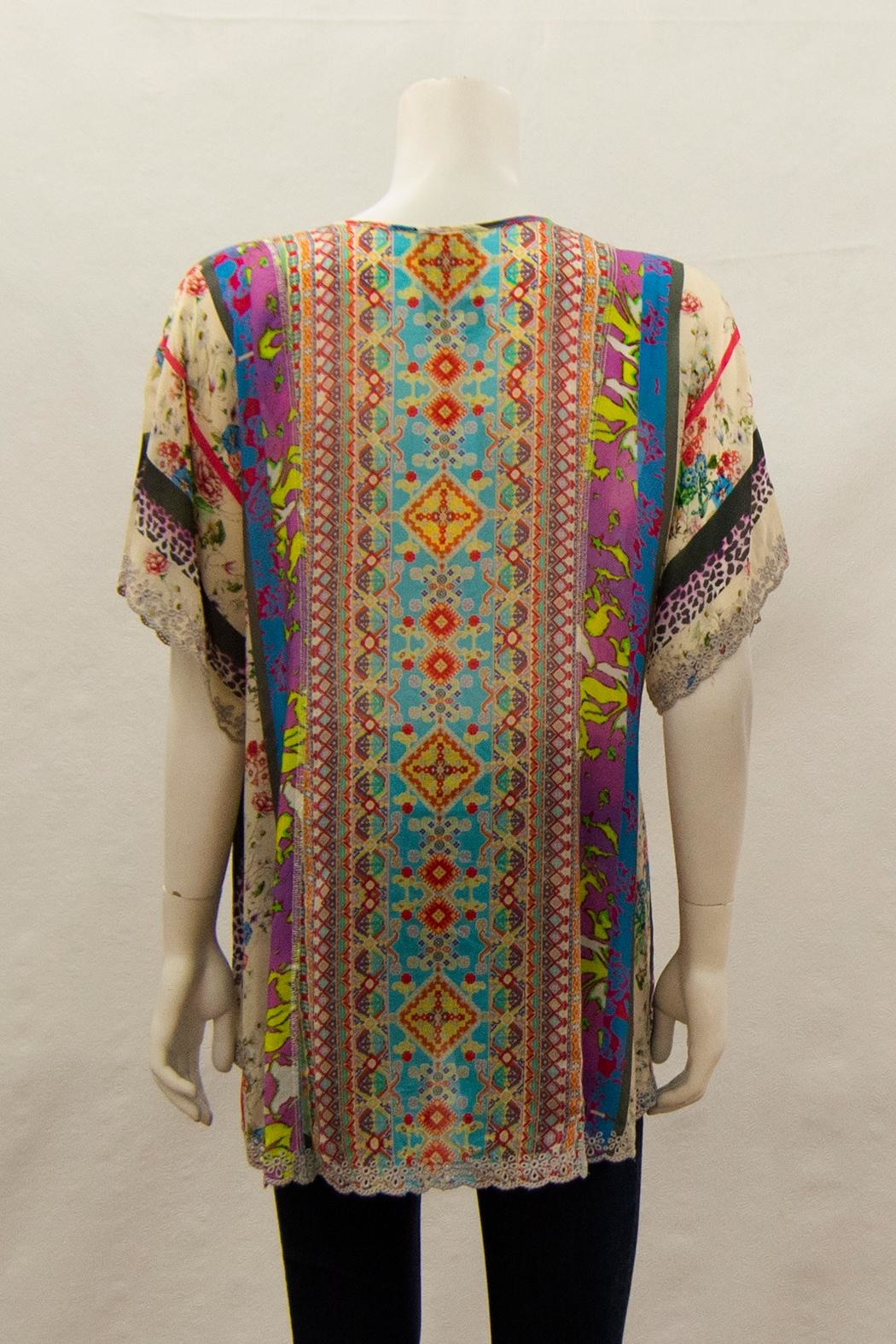 Johnny Was Collection Floral Blouse - Front Full Image