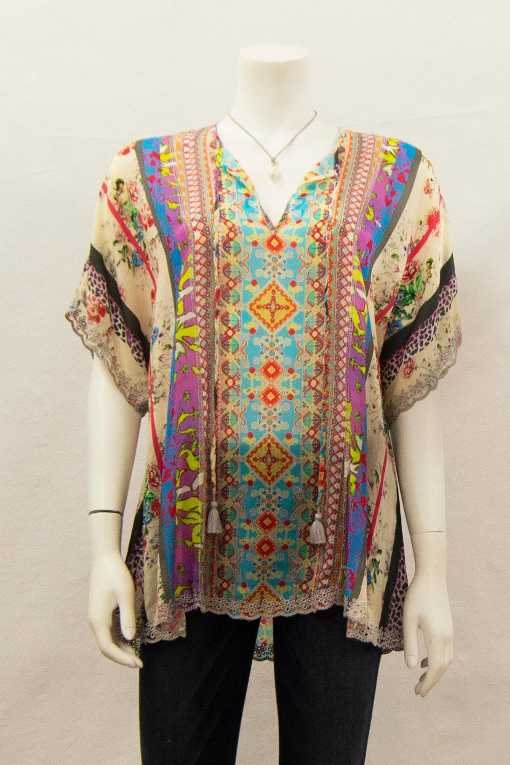 Johnny Was Collection Floral Blouse - Main Image