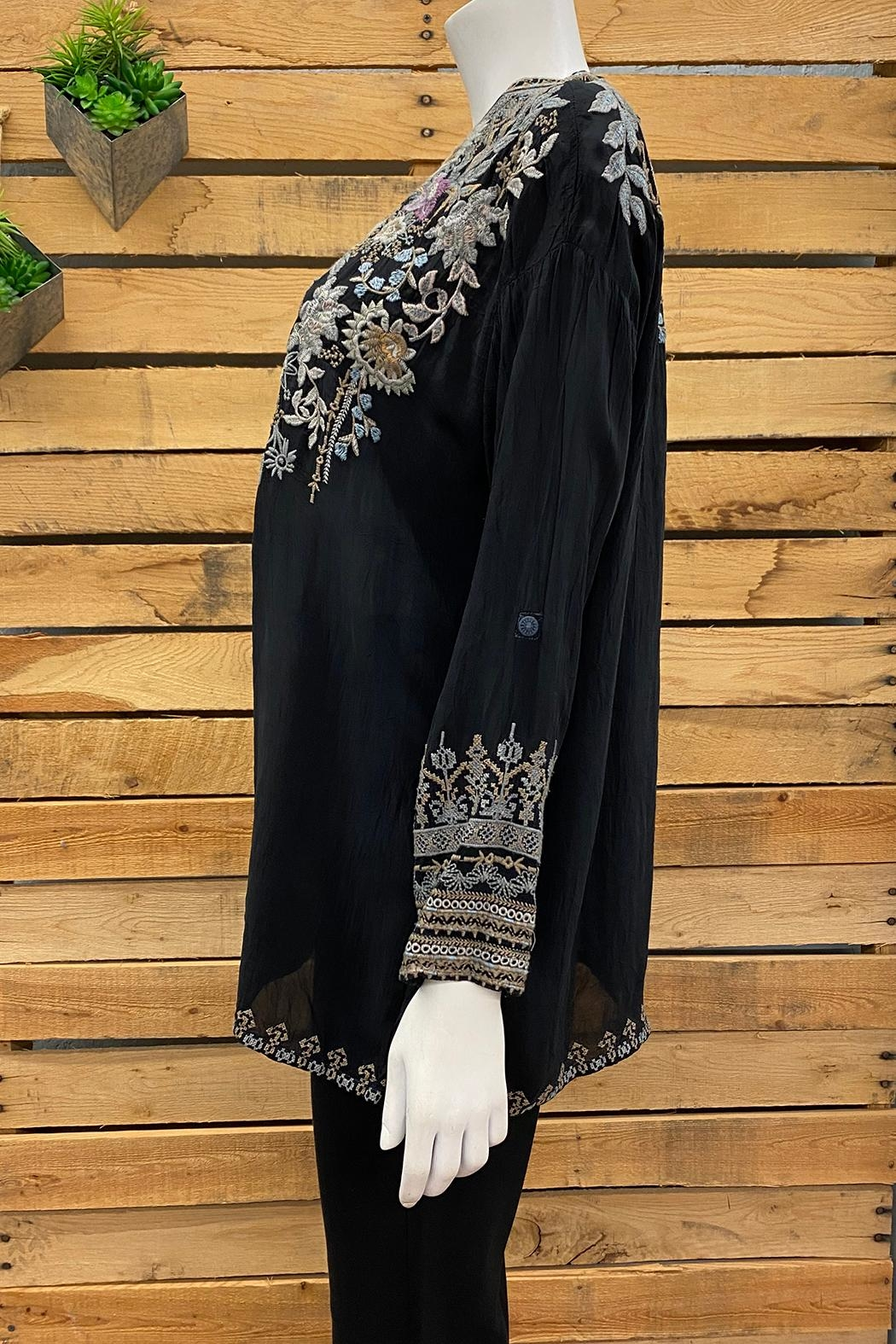 Johnny Was Collection Mandiya Blouse - Front Full Image