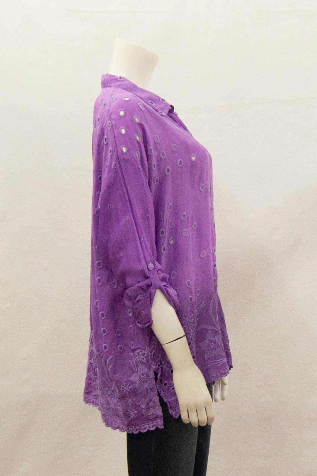 Johnny Was Collection Mindy Blouse - Side Cropped Image