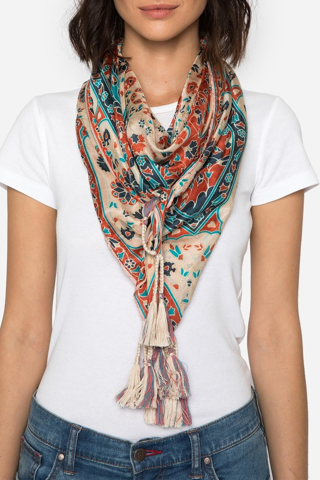 Johnny Was Collection Myra Silk Scarf - Main Image