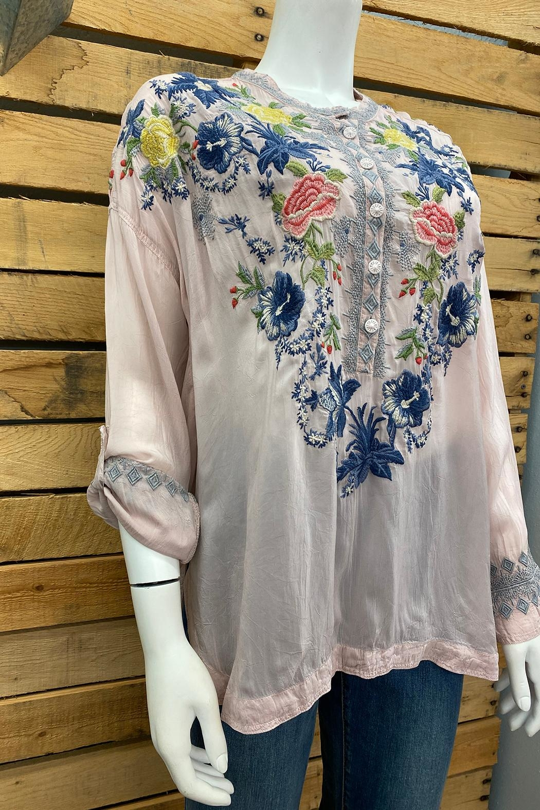 Johnny Was Collection Odette Blouse - Front Full Image