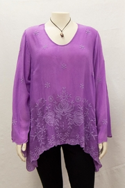 Johnny Was Collection Purple Rose Blouse - Product Mini Image