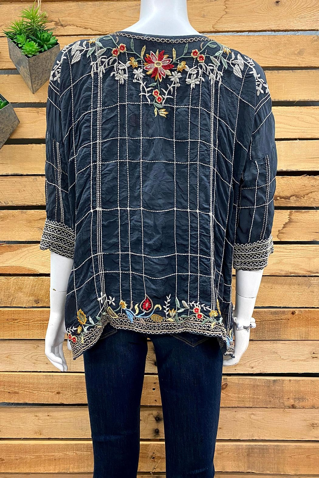 Johnny Was Collection Sienna Blouse - Side Cropped Image