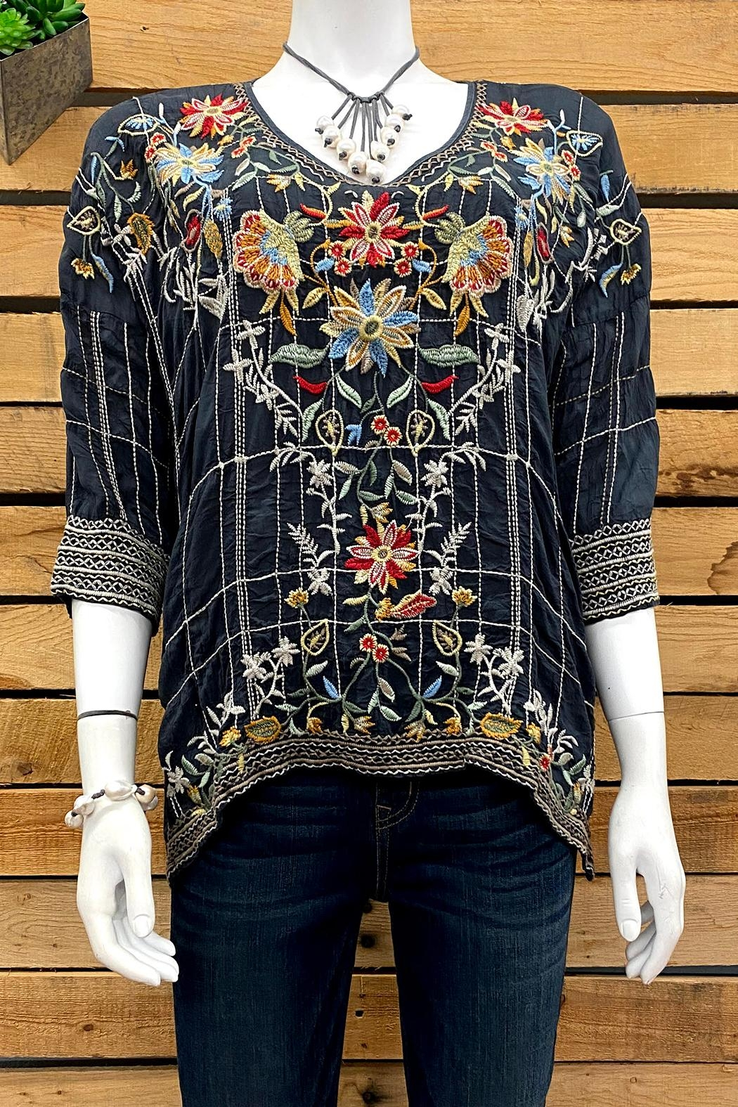 Johnny Was Collection Sienna Blouse - Main Image