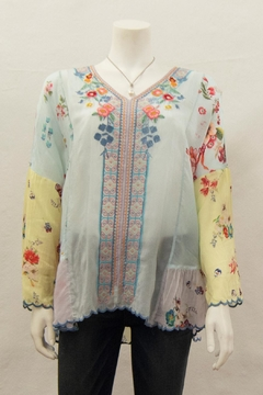 Johnny Was Collection Vervaine Blouse - Product List Image