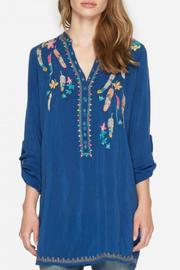 Johnny Was Victoria Blue Blouse - Product Mini Image