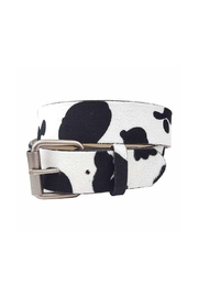 JOIA TRADING INC Cow Print Jean Belt - Front cropped