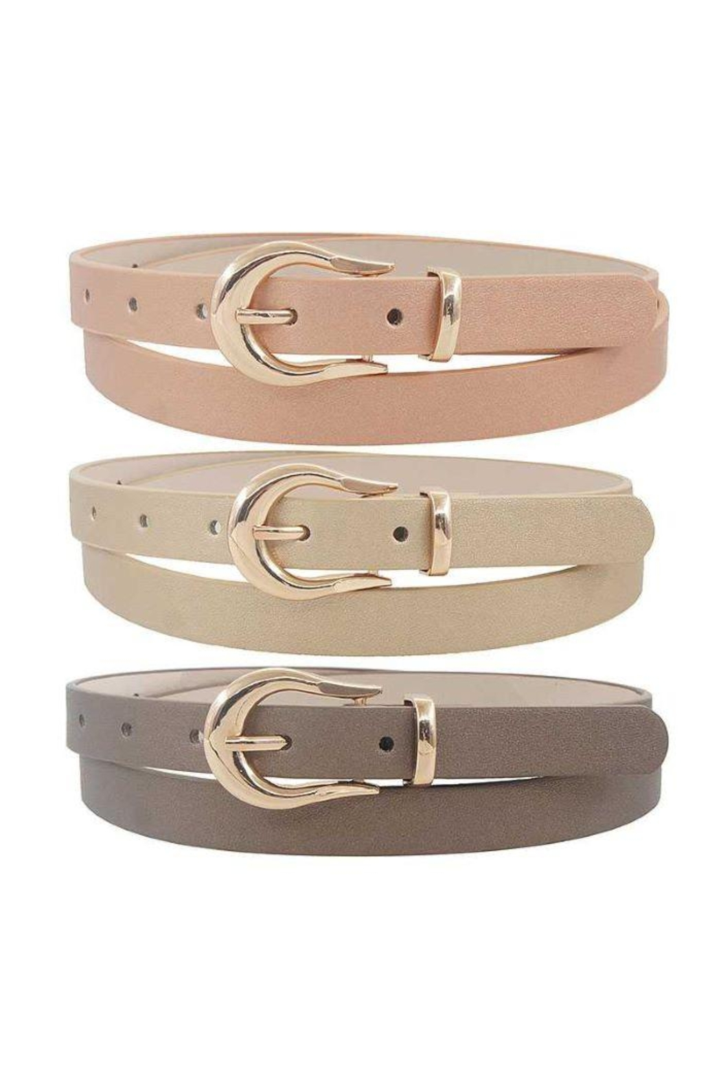 JOIA TRADING INC Skinny Fashion Belt - Front Cropped Image