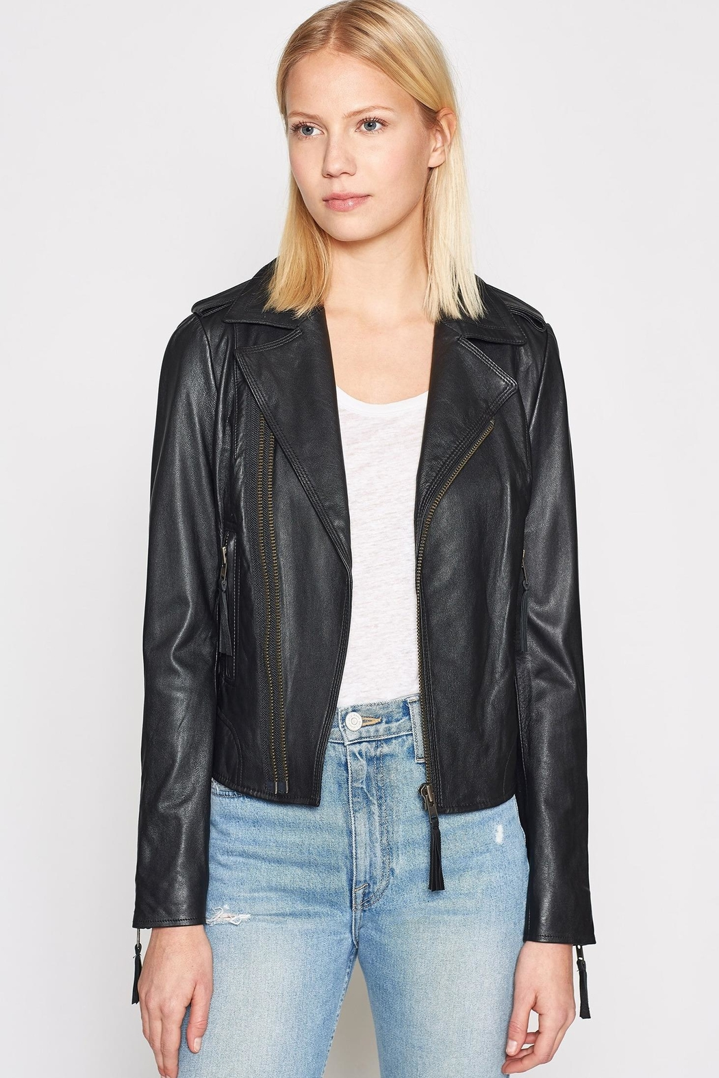 Joie Ailey Leather Jacket - Main Image