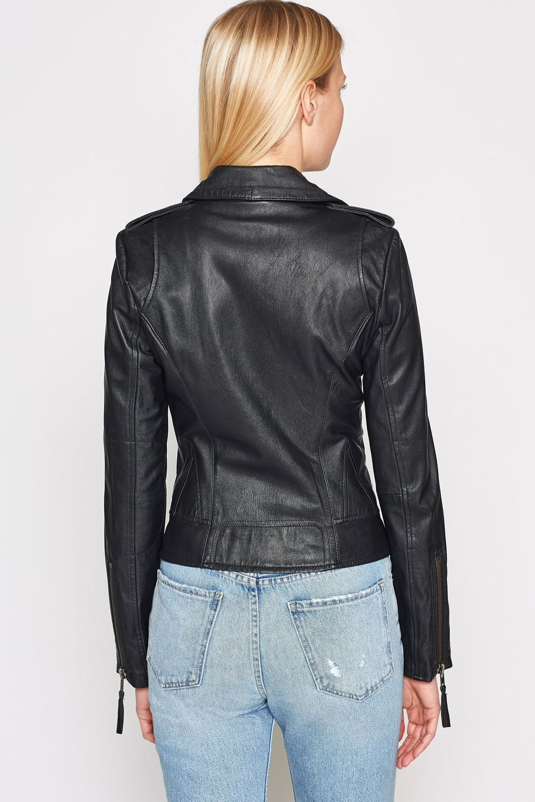Joie Ailey Leather Jacket - Side Cropped Image
