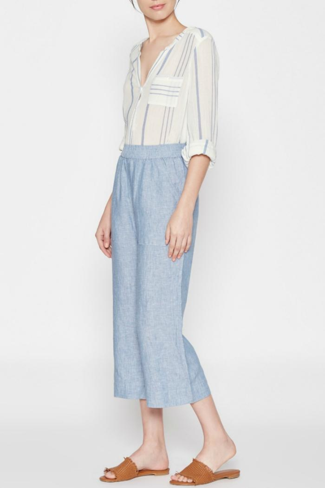 Joie Azelie Linen Pants - Front Cropped Image