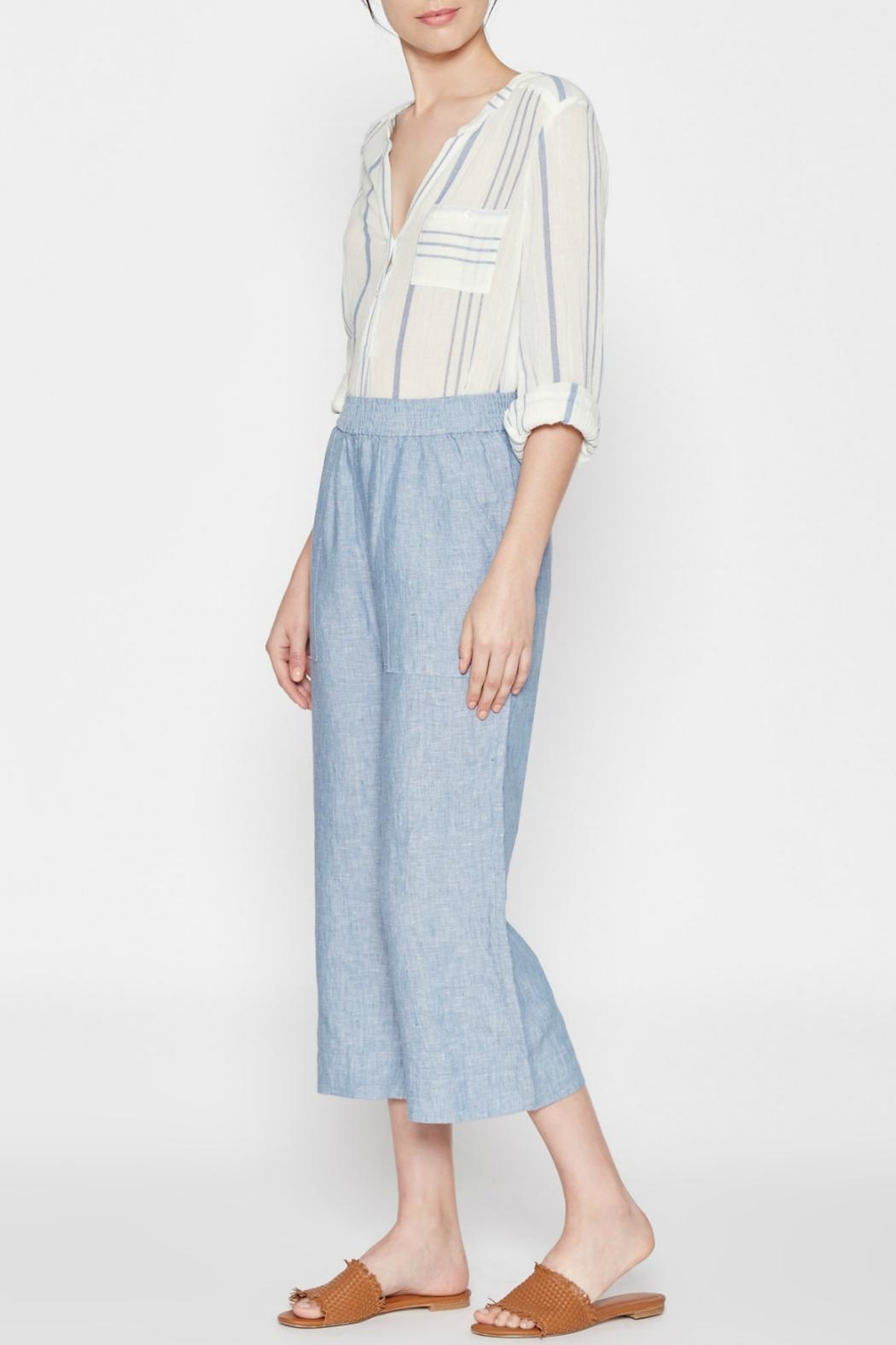 Joie Cropped Denim Blue Pants - Side Cropped Image