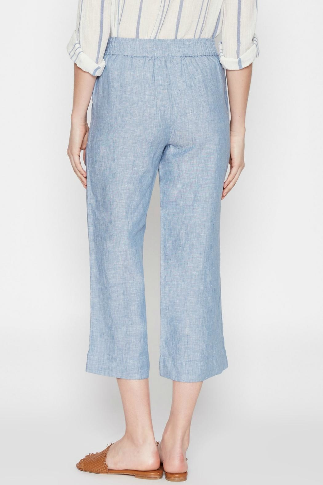 Joie Cropped Denim Blue Pants - Front Full Image