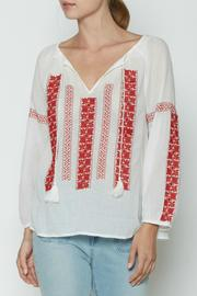 Joie Breccia Embroidered Top - Product Mini Image