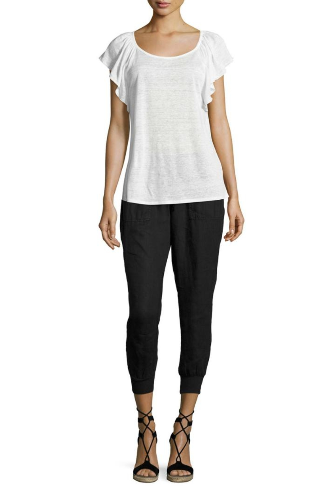 Joie Cynthia Linen Pant - Side Cropped Image