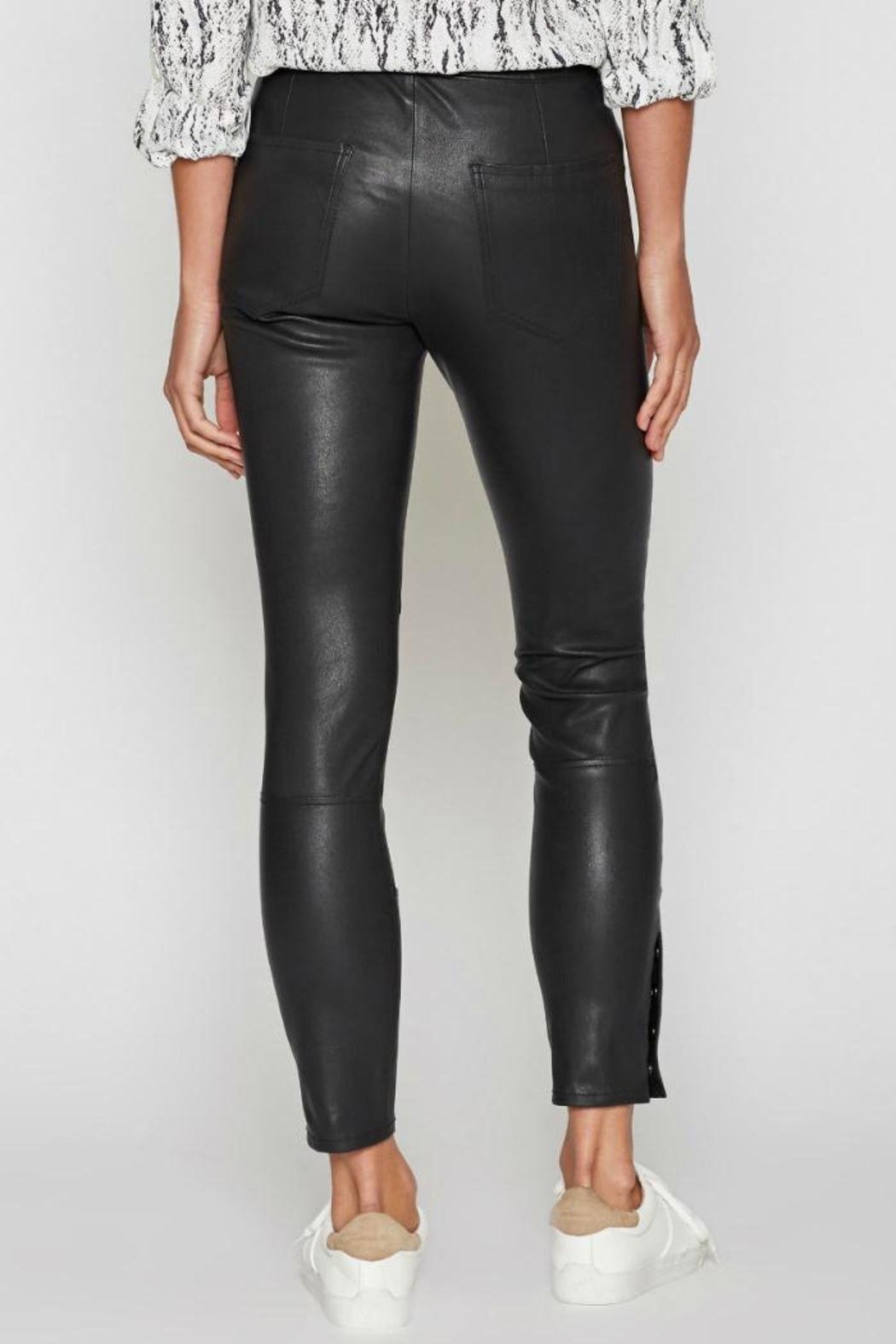 Joie Darnella Leather Pants - Side Cropped Image