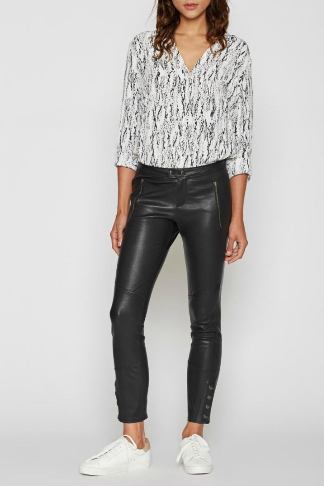Joie Darnella Leather Pants - Front Cropped Image